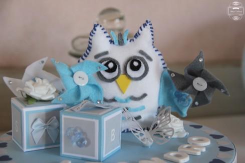 boite à souvenirs baptême hibou owl
