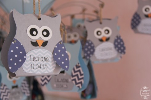 contenant dragées hibou owl baptême