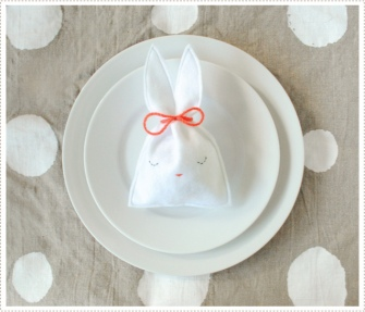 pochon lapin bunny easter pâques