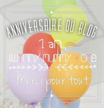 anniversaire 1 an blog twinny mumy