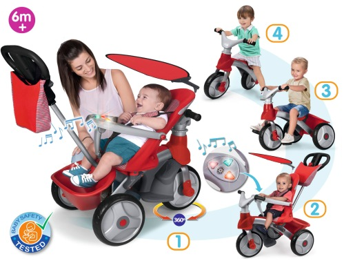 tricycle baby trike easy evolution feber