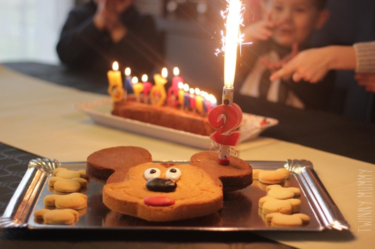 anniversaire 2 ans mickey gateaux