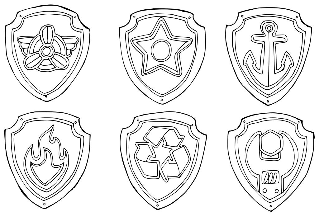 Coloriage Pat Patrouille Badge.Pat Patrouille Leur 5 Eme Anniversaire