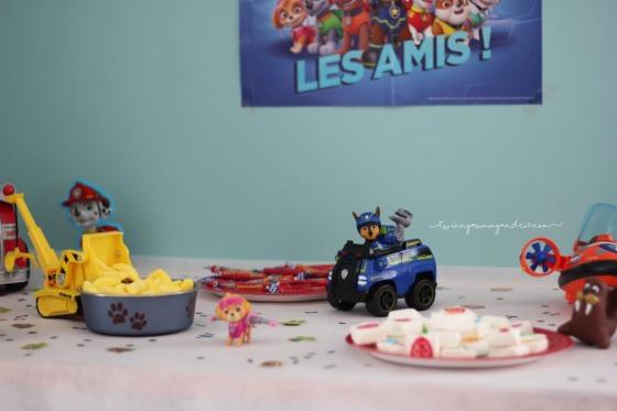 sweet table anniversaire pat patrouille