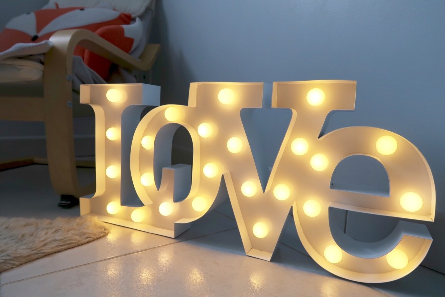 lampe led love