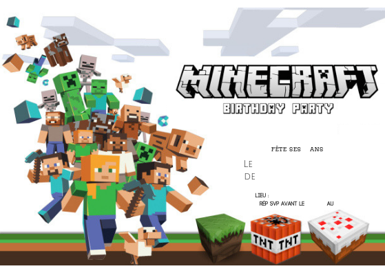 invitation-anniversaire-minecraft